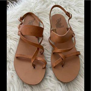 Ancient Greek flat leather sandals